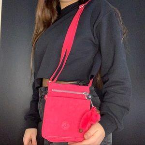 kipling pink cross body bag